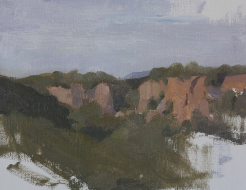 0032 View from VillaRossa, oil on linen, 17x13.5