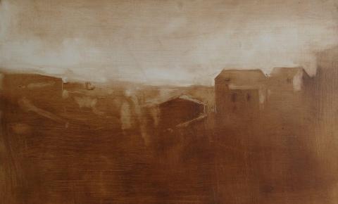 underpainting civita landscape #1