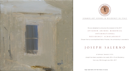 Joseph Salerno - Avigdor Arikha Residency Poster copy
