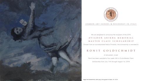 Ronit Goldschmidt - Avigdor Arikha Residency Poster copy