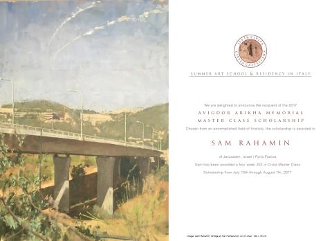 Sam Rahchamin - Avigdor Arikha Residency Poster copy