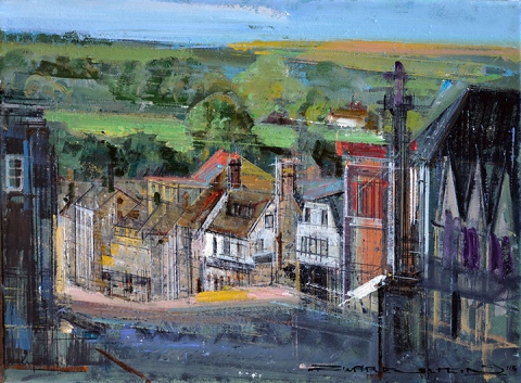 ZWARENSTEIN HIGH STREET BRIDEKIRK -12x16.oil on canvas..jpg